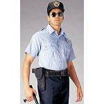 Light Blue Short Sleeve Genuine Police Issue Uniform Shirt