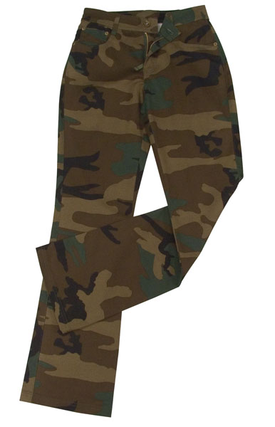 Brilliant  Womens Army Green Camouflage Wide Combat Trousers Cargo Jeans Pants
