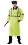 Deluxe Reversible Safety Green High Vis Rain Parka