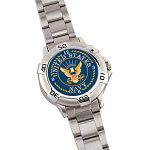 Chrome U.S. Navy Logo Quartz Watch