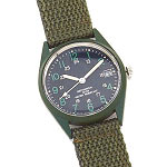 G.I. Vietnam Era Style Wind-Up Watch | Olive Drab