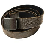 Black Reversible Vintage Leather Web Belt