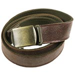 Olive to Brown Reversible Vintage Leather Web Belt