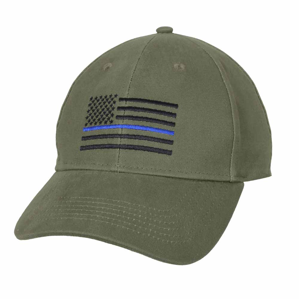 Embroidered Od Thin Blue Line Flag Police Baseball Cap