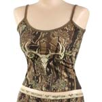 Ladies Wild Game Camo Tank Top