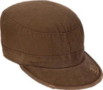Brown Vintage Military Patrol Cap