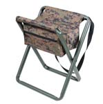 Deluxe Woodland Digital Camo Folding Stool with pouch