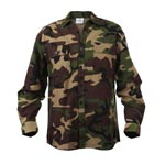 Heavy Weight Woodland Camouflage Flannel Shirt