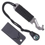 Stainless Steel Pry Tool with Paracord Handle