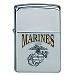 Marine Globe and Anchor Zippo Lighter