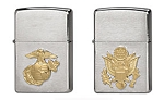 Chrome Military Crest Zippo Lighter