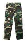 Vintage Woodland Camo Flat Front Cargo Pants