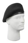 Black Inspection Ready Beret - No Flash