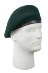 Green Inspection Ready Beret - No Flash