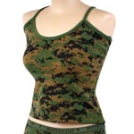 Woodland Digital Camo Womens Tank Top