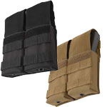 Military Style M-16 Double Mag Pouch with Plastic Insert