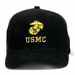 Black USMC Low Profile Baseball Hat
