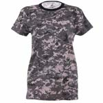 Longer Subdued Urban Digital Camo Women's T-Shirt