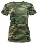 Women's Woodland Camo Long T-Shirt