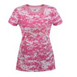 Women's Soft Pink Digital Camo T-shirt