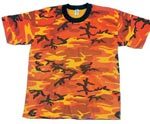 Savage Orange Camo Military T-shirt