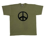Army Olive Peace T-shirt