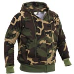 Woodland Camo Thermal Lined Hoodie