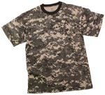 Kids Subdued Urban Digital Camo Military T-Shirt
