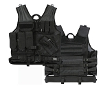 Basic Issue Cross Draw Tactical Vest - ACU or Black