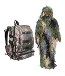Convertible Woodland Camo Bushrag Ghillie Suit Pack