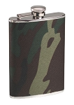 Woodland Camo Stainless Steel Flask