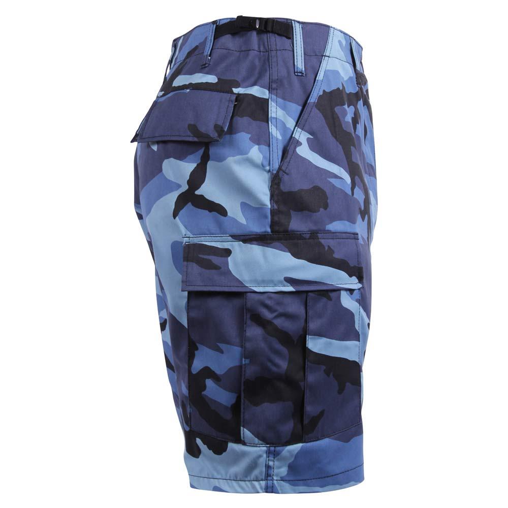 Sky Blue Camouflage BDU Cargo Shorts