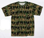 Vintage Olive Drab Soldier Camo T-Shirt