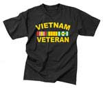 Vietnam Veterans Ribbon Black T-Shirt