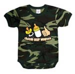 Woodland Camo Infant 'Choose Your Weapon' Baby Onesie