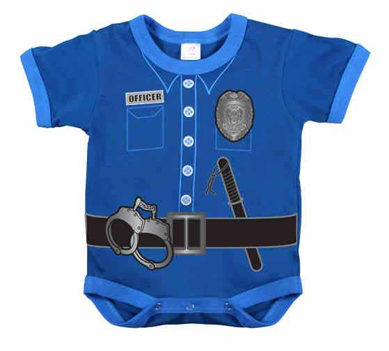 Infant Police Uniform One Piece Baby Novelty Onesie
