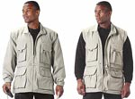 Khaki Convertible Safari Outback Jacket and Travel Vest
