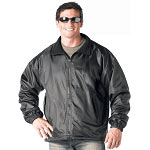 Reversible Black Nylon Polar Fleece Jacket