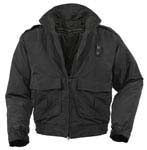 Water Repellent Black Nylon Duty Jacket