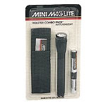 Black AA Mini -Maglite Holster Combo Pack