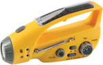Solar Powered Flashlight with Radio