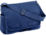 Vintage Blue Messenger Bag