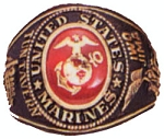 Marine Corps Deluxe Engraved Ring