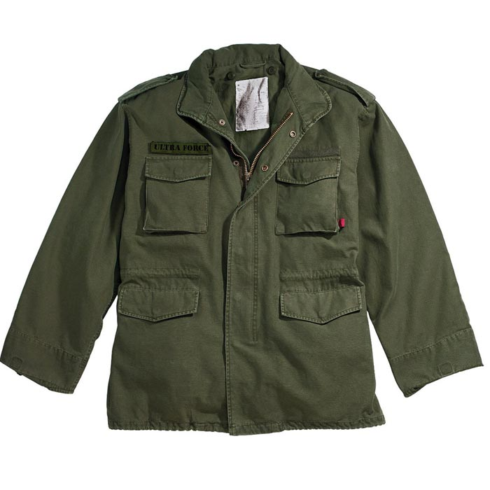 Vintage Olive Drab M-65 Military Winter Jacket