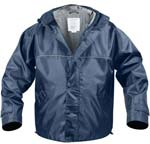Navy Blue Hooded Storm Jacket