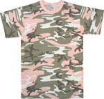 Subdued Pink Camo Military T-shirt