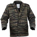 Tiger Stripe Camo M-65 Army Field Jacket with Liner