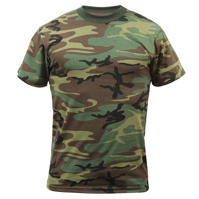 men 39 s woodland camouflage tee shirt military camo t shirts