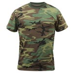 Woodland Camouflage Military T-shirt