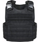 Black MOLLE Plate Carrier Tactical Vest